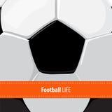 Football ball background Royalty Free Stock Photos