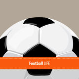 Football ball background Stock Images