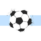 Football ball background Stock Image