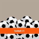 Football ball background Stock Photos