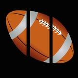 Football. Ball on black background Stock Photo