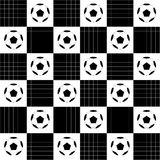 Football Ball Black White Chess Board Diamond Background Royalty Free Stock Images