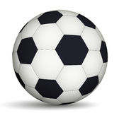 Football ball black and white Royalty Free Stock Photography