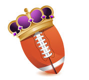 Football ball with a crown Royalty Free Stock Image
