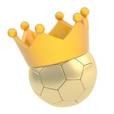 Football ball in the crown isolated Stock Images