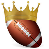 Football ball with crown Stock Photo