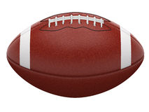 Football ball. 3d rendering american football ball isolated on white Stock Photography