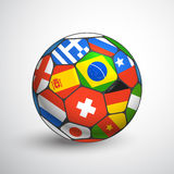 Football ball with different flags Stock Image