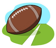 Football ball on field illustration Stock Images