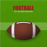 Football, ball on a field. Vector background. Royalty Free Stock Photos