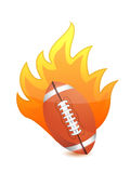 Football Ball in fire. Illustration design over a white background Royalty Free Stock Photo