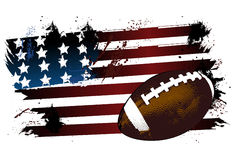 Football ball flag Stock Image