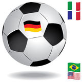Football ball with flags Stock Photography