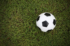 Football ball on grass Stock Images