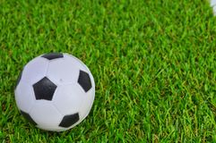 Football ball on grass Royalty Free Stock Photo