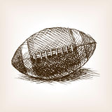 Football ball hand drawn sketch style vector Royalty Free Stock Photos