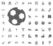 Football ball icon. Soccer icon. Sport illustration vector set icons. Set of 48 sport icons. Football ball icon. Sport illustration vector set icons. Set of 48 Royalty Free Stock Image
