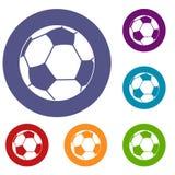 Football Ball Icons Set Stock Photography