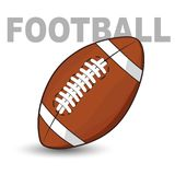 A football is a ball inflated with air that is used to play royalty free illustration