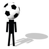 Football ball like had of player illustration Royalty Free Stock Photos