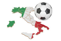 Football ball with map of Italy concept royalty free illustration