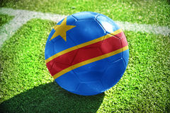 Football ball with the national flag of democratic republic of the congo Stock Images