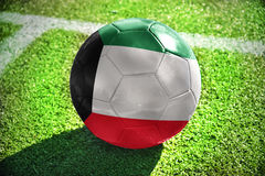 Football ball with the national flag of kuwait Stock Photography