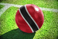 Football ball with the national flag of trinidad and tobago Stock Images