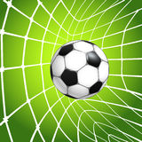 Football ball in a net. Goal Royalty Free Stock Photography