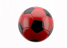 Football ball red Stock Images