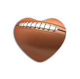 Football Ball  in the shape of heart Royalty Free Stock Photos