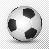 Football ball, soccer ball, mockup, on transparent background. Vector illustration.  royalty free illustration