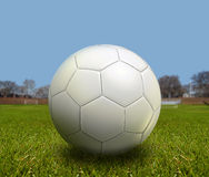 Football. Ball on the stadium of game royalty free stock photos