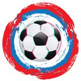 Football Ball and Strokes Stock Image