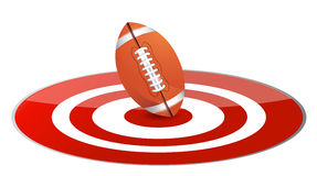Football ball target concept Stock Images