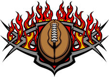 Football Ball Template with Flames Image stock illustration