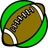Football ball vector illustration Stock Photography