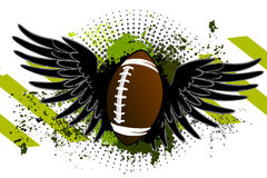 Football ball with wings Stock Image