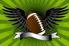 Football ball wings Stock Photography