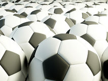 Football balls Royalty Free Stock Photos