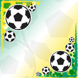 Football balls background Royalty Free Stock Photos