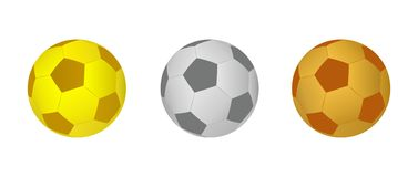 Football balls - cdr format Royalty Free Stock Photography