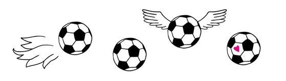 Football balls Royalty Free Stock Photography