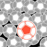 Football balls seamless background Stock Photos