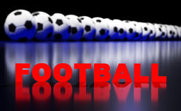 Football balls and text Stock Images