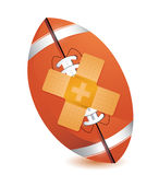 Football band aid fix solution concept Stock Photo