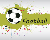 Football banner.Abstract green splash.Football background with c Royalty Free Stock Photo
