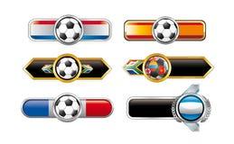 Football banners Stock Photo