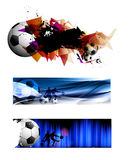 Football banners Royalty Free Stock Images
