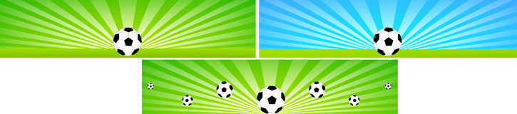 Football banners Stock Image